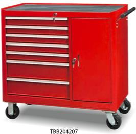 TBB204207           7-Drawer & 1-Door Roller Tool Cabinet
