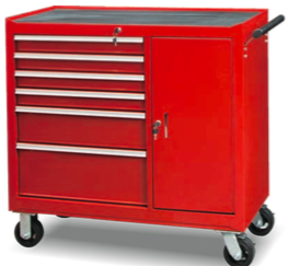 TBB204206              6-Drawer & 1-Door Roller Tool Cabinet