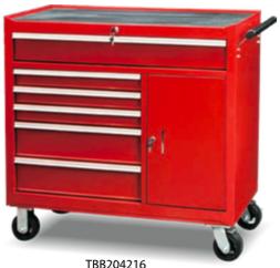 TBB204216                  6-Drawer Roller Tool Cabinet