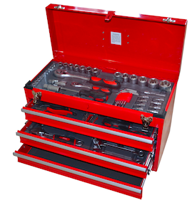 Tool Box with tools 3 drawer