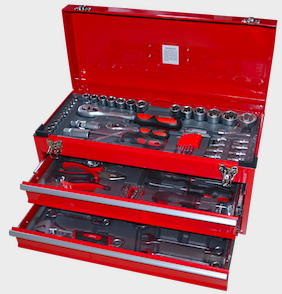 Tool Box with tools  2 drawer